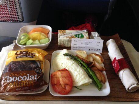 Il menù Gluten Free in volo